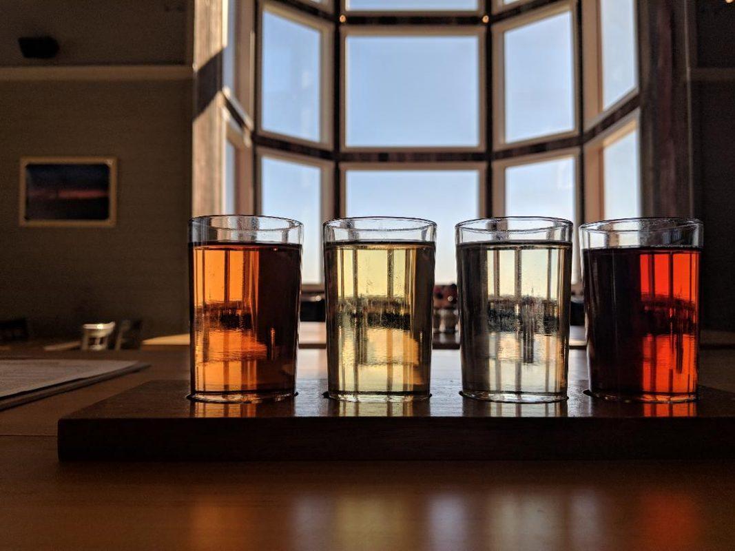 Flight of different ciders