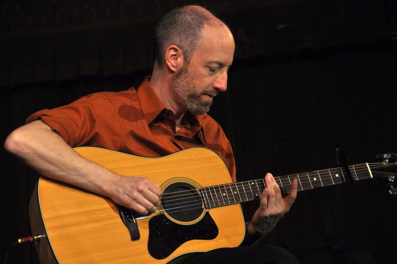 Doug Wood with his guitar
