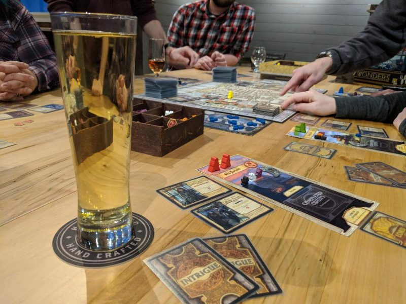 Sip and Play night with cider and board games