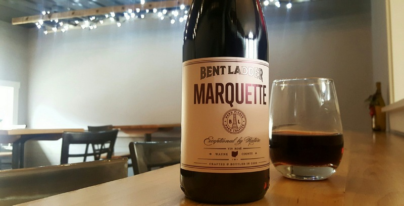 A bottle of Marquette at the bar