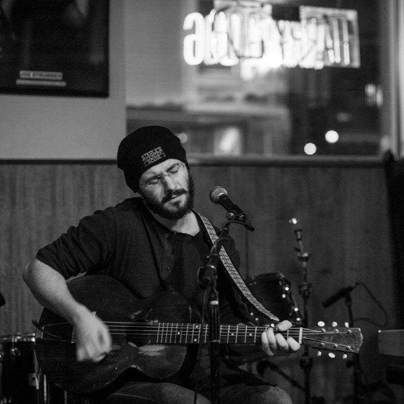 Ray Flanagan and his guitar