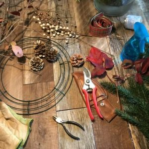 Materials for the wreath making class