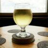A glass of Black Gold cider